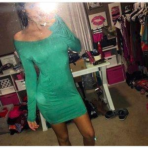 Piko brand dress long sleeve green small new